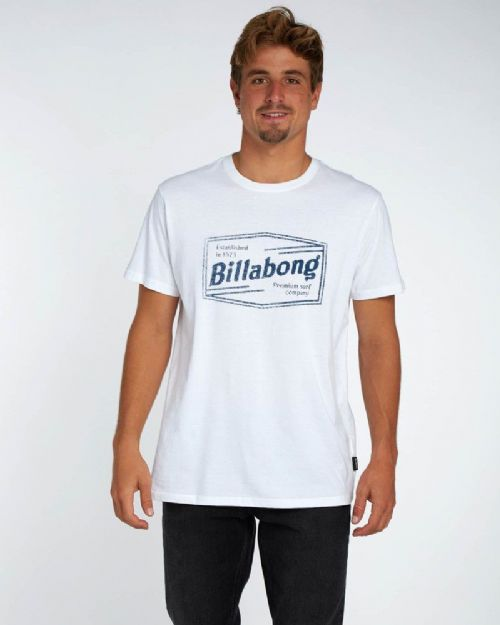 BILLABONG MENS T SHIRT.NEW LABREA WHITE SHORT SLEEVED COTTON TOP TEE 8S 17 10